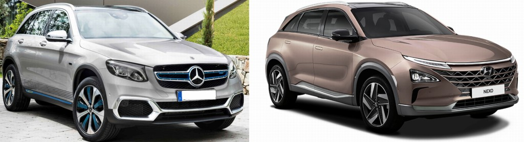 Bild 5 Daimler GLC (links) und Hyundai Nexo (rechts). Bild: www.mercedes-benz.com (links), www.hyundaiusa.com (rechts)