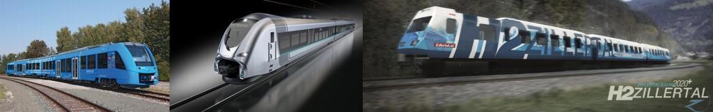 Bild 8 Alstom Coradia iLint (links), Siemens Mireo (Mitte) und 4090 EMU der ÖBB (rechts). Bild: www.Alstom.com (links), www.siemens.com/presse (Mitte), www.zillertalbahn.at (rechts)