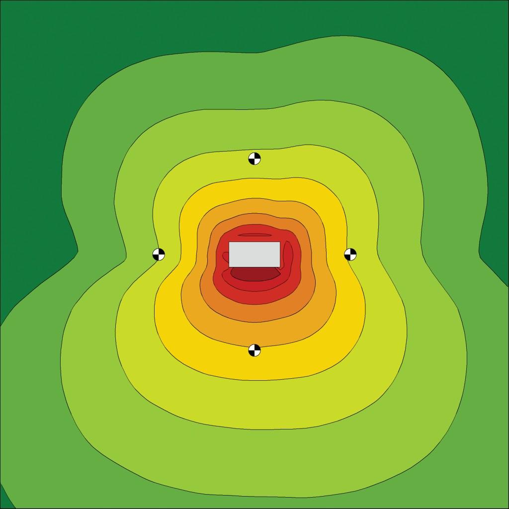Bild 3 Maschine mit ringsum bekannten Schalldruckpegeln als abstrahlender Quader.