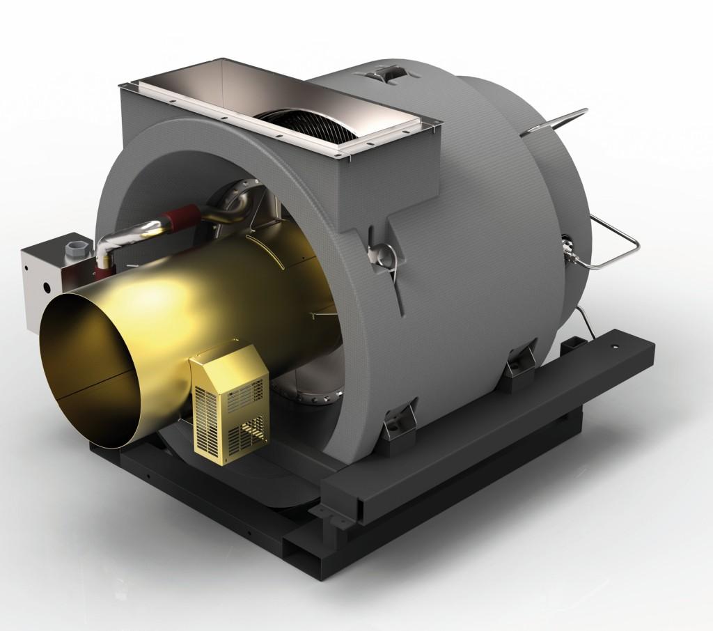 Bild 2 Prinzipielles Schnittbild (links) und Core (rechts) der Mikro-Gasturbine vom Typ Capstone C200. Bild: E-quad Power Systems