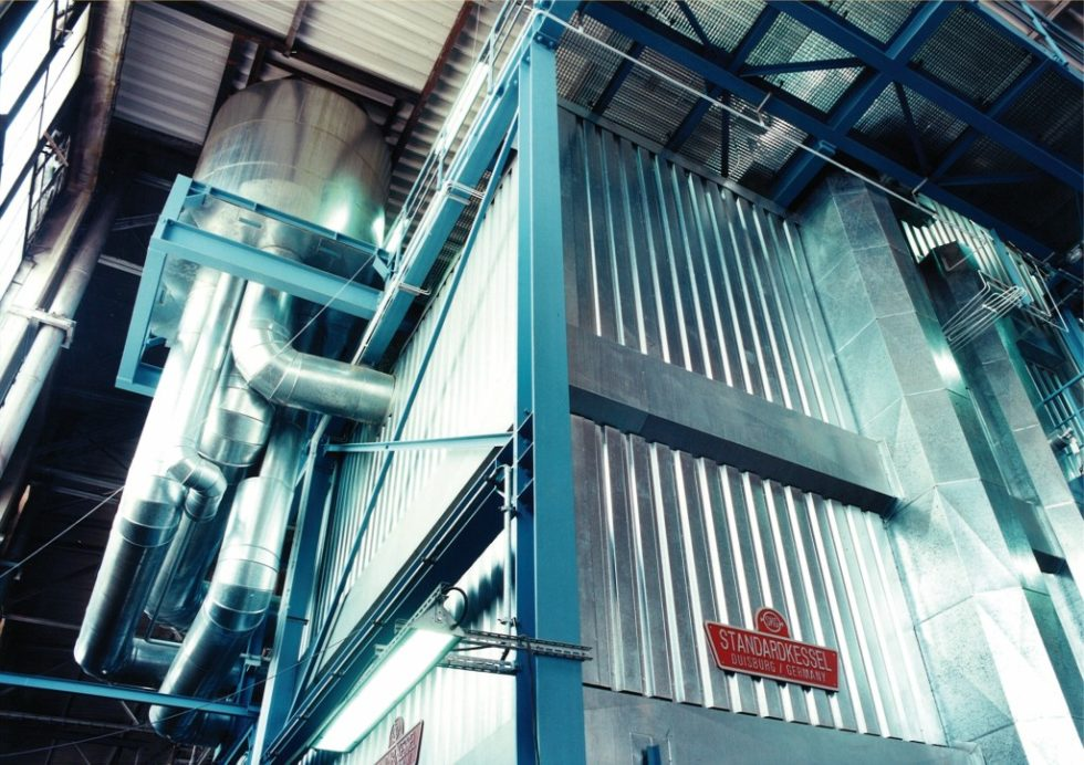 Kesselanlage der Vulkan Energiewirtschaft Oderbrücke GmbH (VEO) in Eisenhüttenstadt.  Bild: Standardkessel