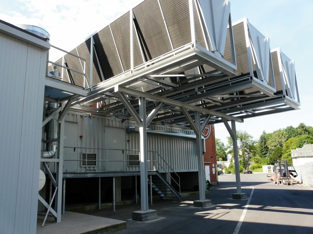 Bild 2 Außenansicht der ORC-Anlage auf dem Werksgelände der Firma Grimm. Bild: Grimm/BFI