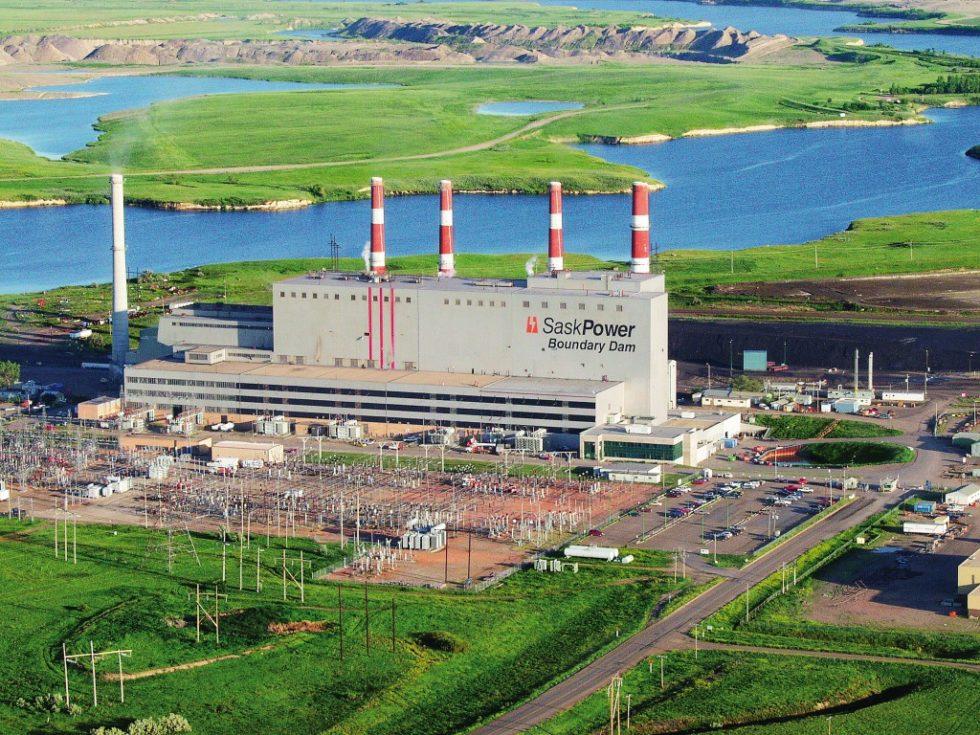 Das neue CCS-Kohlekraftwerk Boundary Dam von SaskPower, Saskatchewan, Kanada. Bild: SaskPower