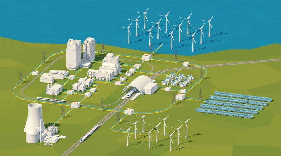 Smart Grids – intelligente Stromnetze: 3D-Illustration. Bild: ag visuell