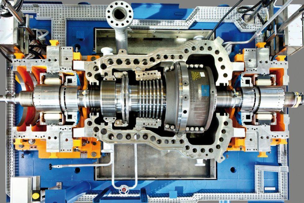 Die erste magnetgelagerte Siemens-Dampfturbine SST-600 wurde gemeinsam mit der Hochschule Zittau/Görlitz entwickelt und offiziell an den Kunden Vattenfall übergeben. Bild: Siemens