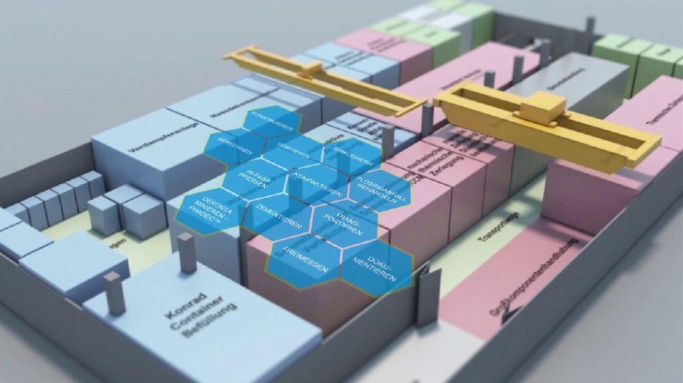 """""""Hermine"""" – Die modulare Lösung zur Bearbeitung kontaminierter Reststoffe. Bild: Bilfinger Noell"""