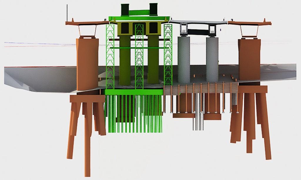 Im 3D-Querschnitt sind die Auswirkungen des Ersatzneubaus sichtbar. Abb.: INROS LACKNER