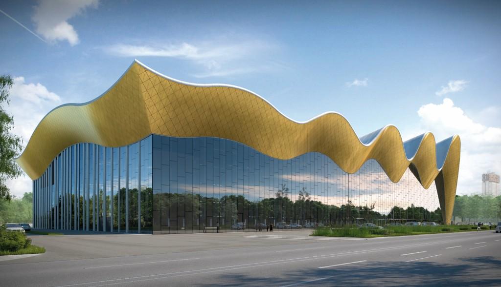 Für das Dach des neuen Zentrums musste die optimale Form gefunden werden. Abb.: Irina Winer-Usmanova Rhytmic Gymnastic Center in the Luzhniki Complex, Moscow, Russia // CPU PRIDE, www.prideproject.pro