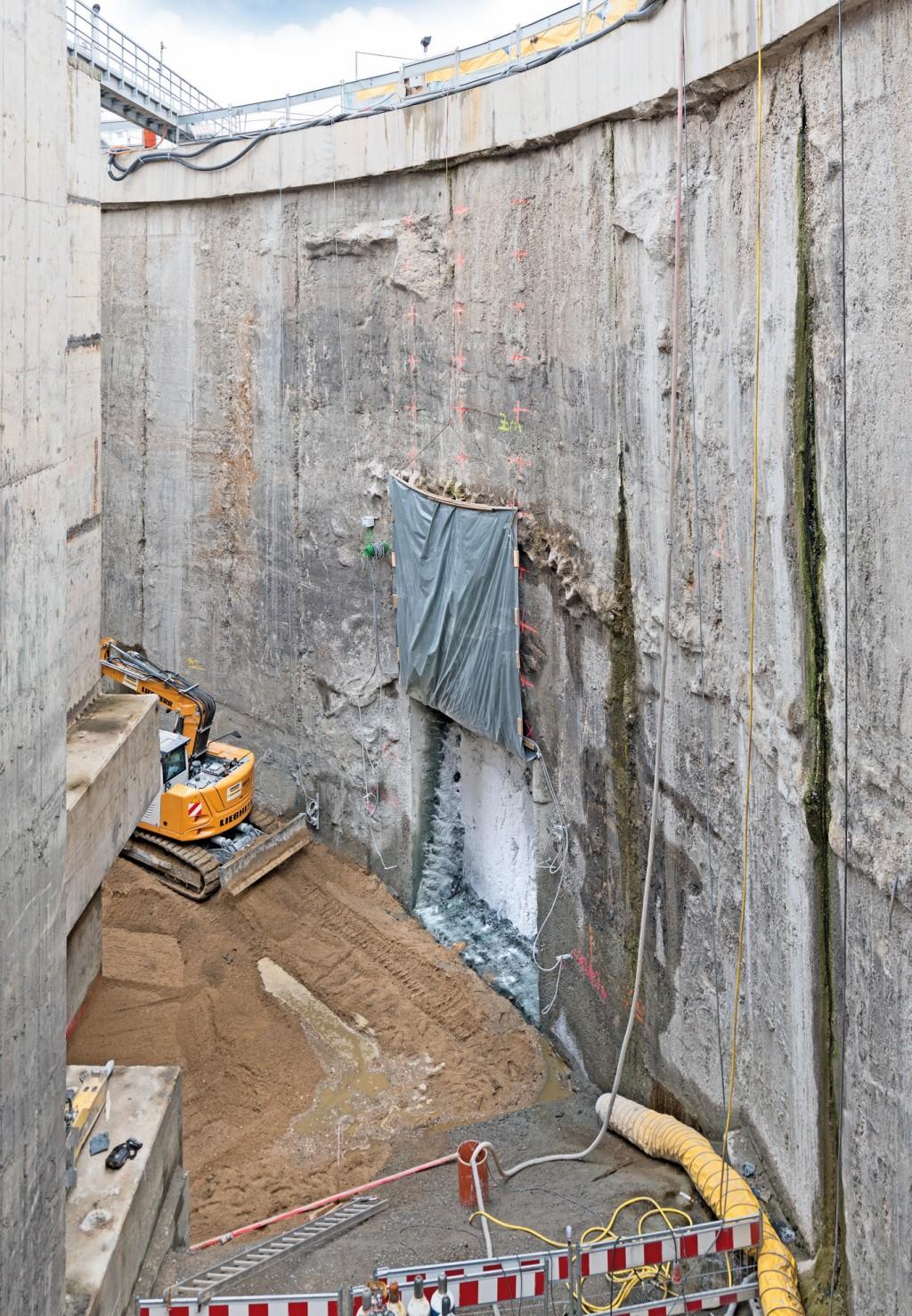 Die Baugrundvereisung war die Lösung zur Herstellung einer Verbindung zwischen Schachtanlage und Pumpspeicherwerk. Abb.: Keller Grundbau