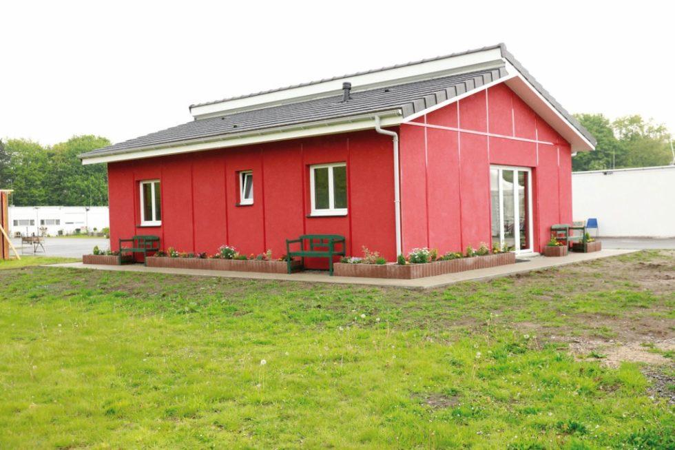 Das Multifunktionshaus ist in vier Wochen Bauzeit entstanden. Abb.: Covestro