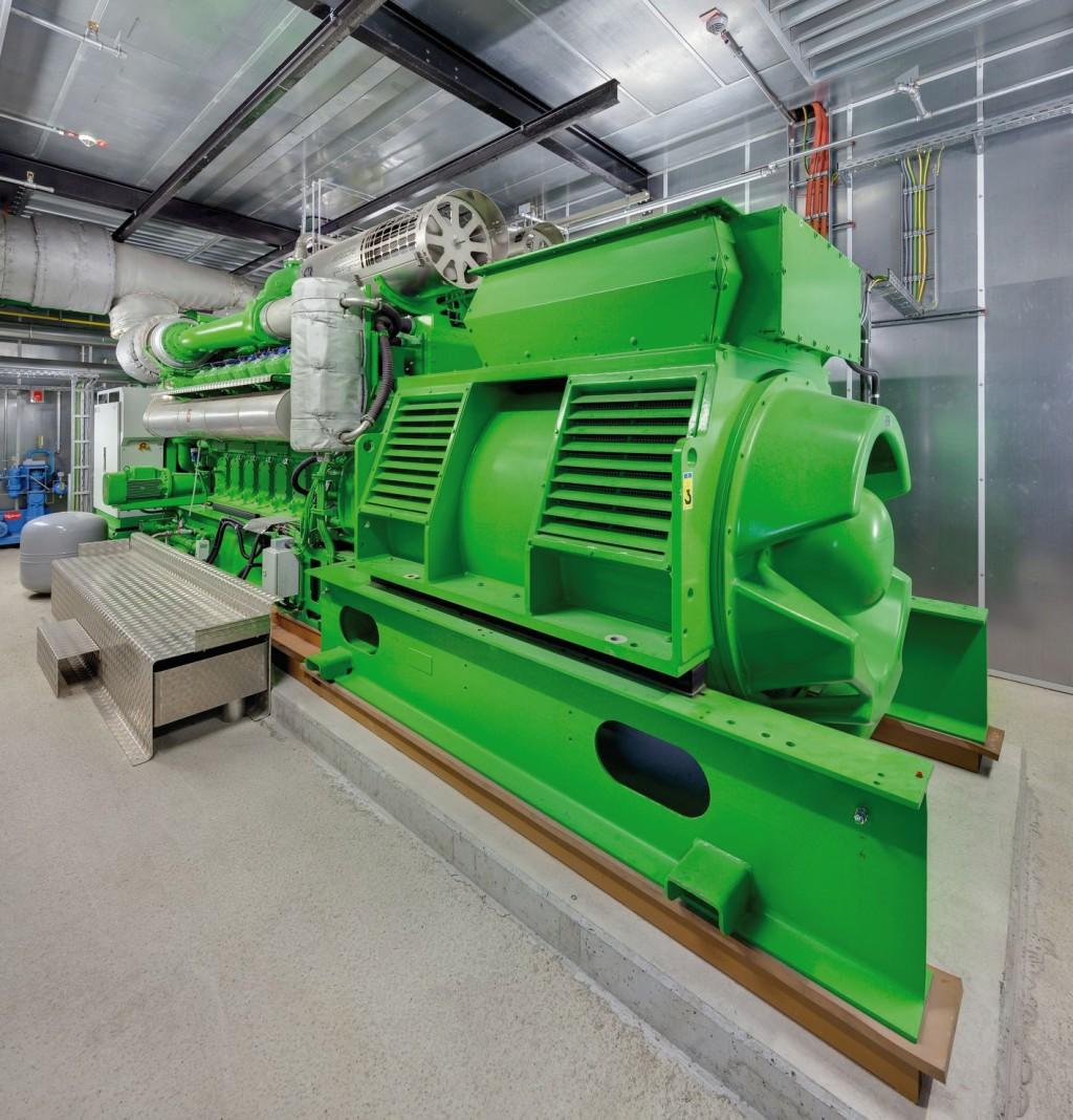 Ein zusätzliches Blockheizkraftwerk komplettiert das Energiekonzept, so dass durch die neuen Anlagen die Grundlast praktisch vollständig abgedeckt werden kann. Bild: Gammel Engineering
