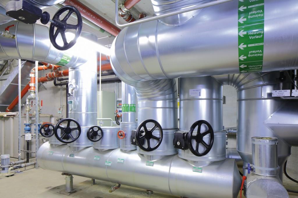 Die Geothermie-Anlage Riem deckt den Wärmebedarf der Messestadt Riem mit heißem Wasser.Bild: Stadtwerke München, Stefan Obermeier