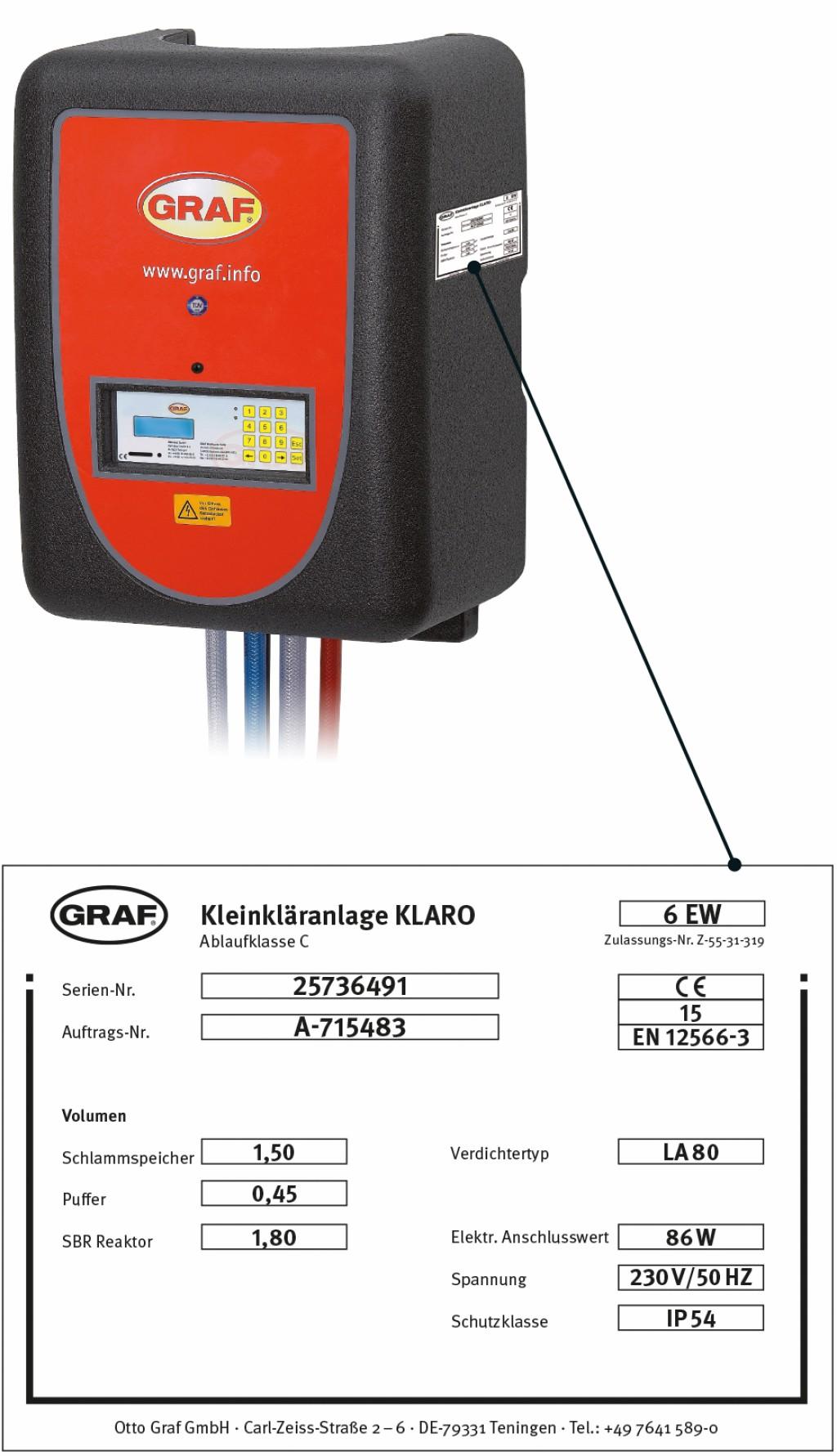 CE-Kennzeichnung am Schaltschrank.Bild: Graf