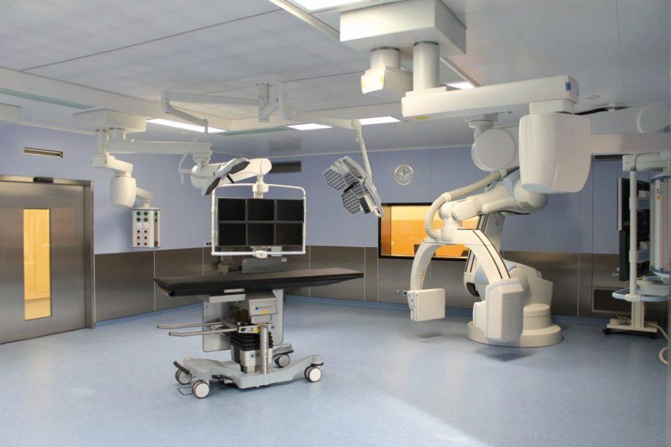 Hybrid-OP in den SHG-Kliniken Völklingen nach Raumklasse Ia gem. DIN 1946–4:2008. Bild:Mann+Hummel Vokes Air