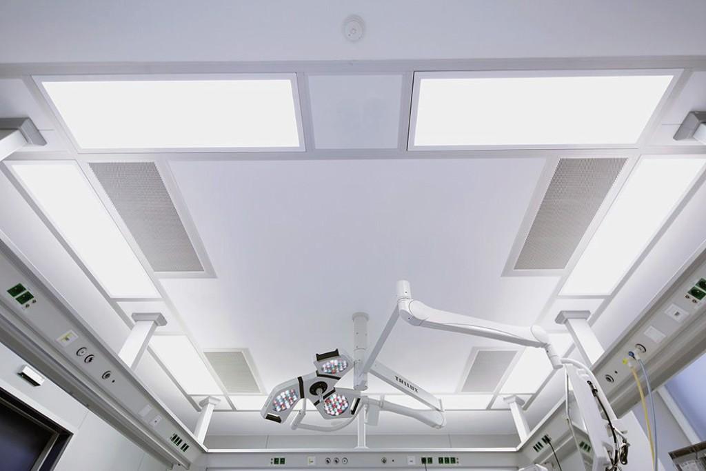 OP der Raumklasse Ib nach DIN 1946–4:2008; Medizinisches Zentrum Oer-Erkenschwick OP-Zentrum Vest. Bild: Mann+Hummel Vokes Air