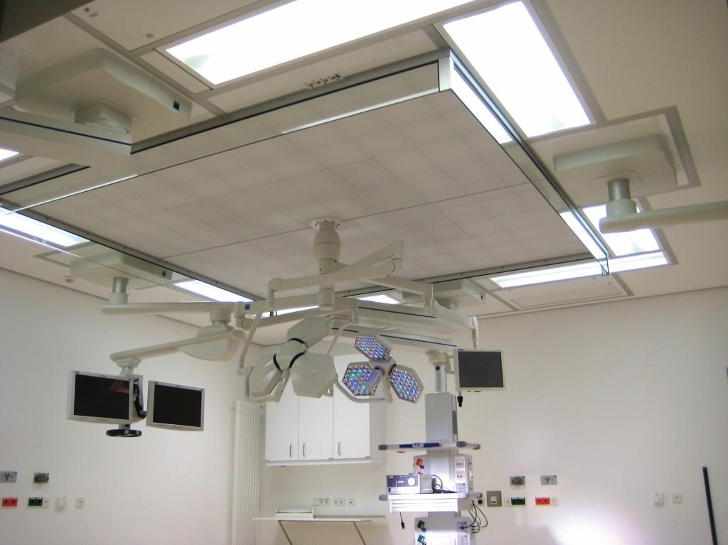 OP der Raumklasse Ia nach DIN 1946–4:2008 im Robert-Bosch-Krankenhaus Stuttgart. Bild: Mann+Hummel Vokes Air