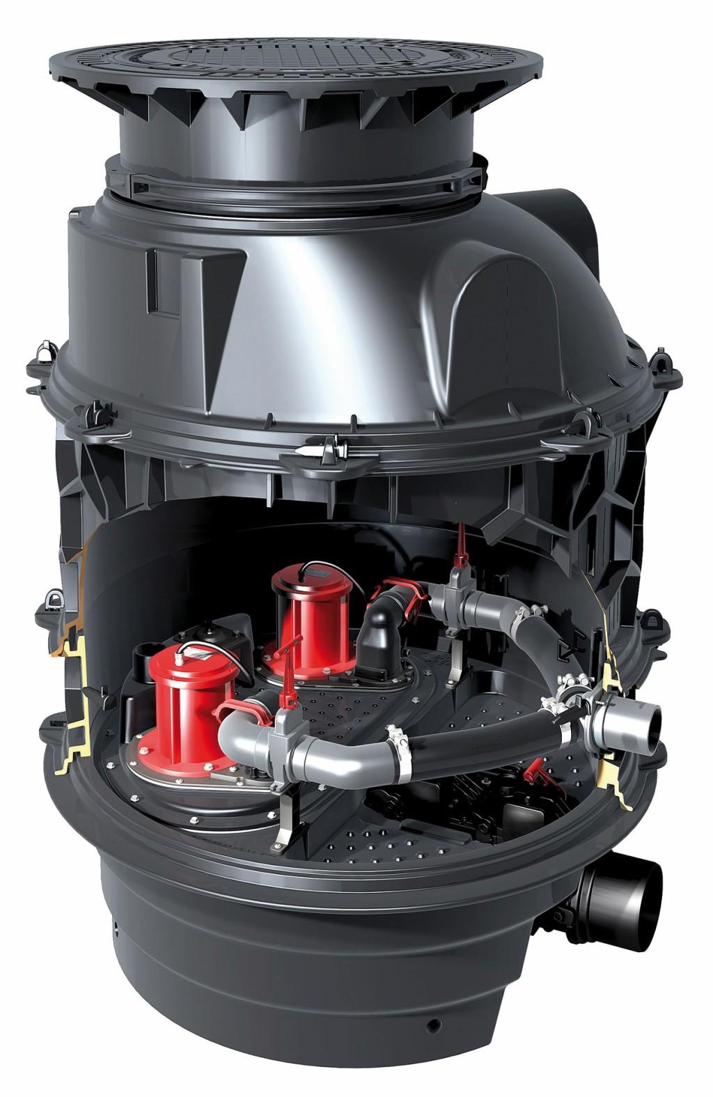 Die neue Alternative zur klassischen Hebeanlagen: Hybrid-Hebeanlagen wie Ecolift XL. Bild: Kessel AG
