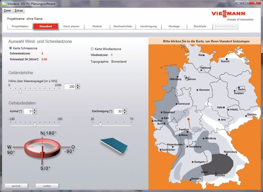 Softwareprogramm Vitodesk 100 von Viessmann. Bild: Viessmann