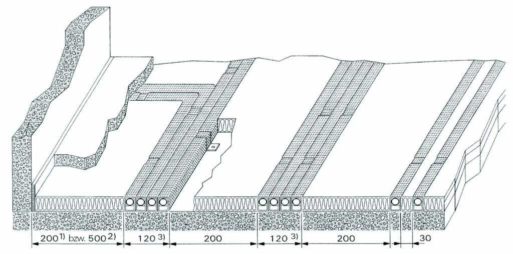 Anordnung wärmegedämmter Heizkörperanschluss-Rohrleitungen. Bild: Missel