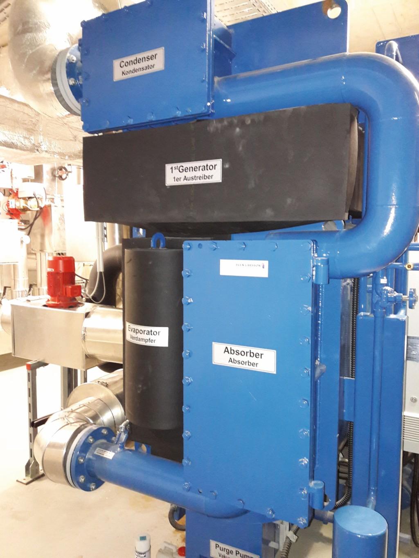 Kälteanlage im Technikkeller. Bild: Stricker-Berghoff