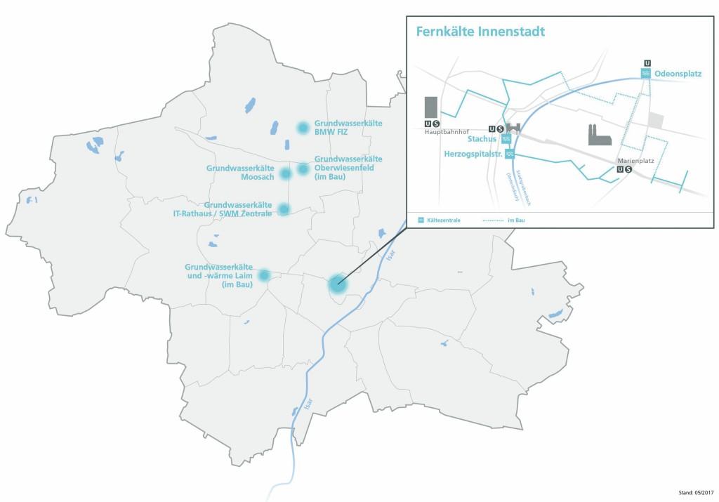 Fernkälte-Projekte in München. Die Stadtwerke München bewerten das Interesse an einem Fernkälteanschluss von Anliegern, aber auch von Liegenschaftsverwaltern in Gewerbe- und Industriegebieten als hoch. Bild: Stadtwerke München