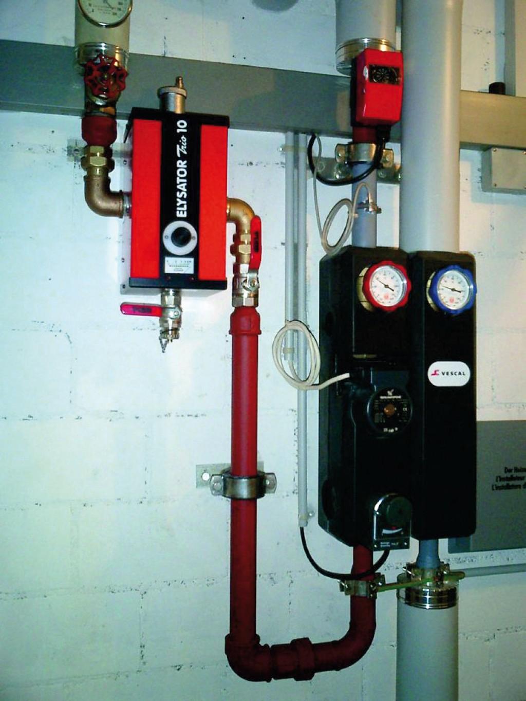 Elektrochemisches Korrosionsschutzgerät im direkten Heizkreis Bild: Elysator Engineering GmbH