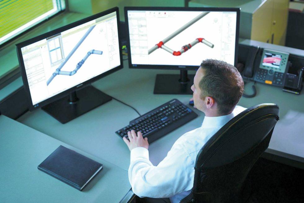 Mittels Building Information Modeling können Architekten, TGA-Planer und Brandschutzgutachter gemeinsam in Echtzeit an einem Gebäudemodell arbeiten. Die am Bau beteiligten Personen haben dadurch einen besseren Überblick, als bei herkömmlichen CAD-Anwendungen. Bild: Victaulic