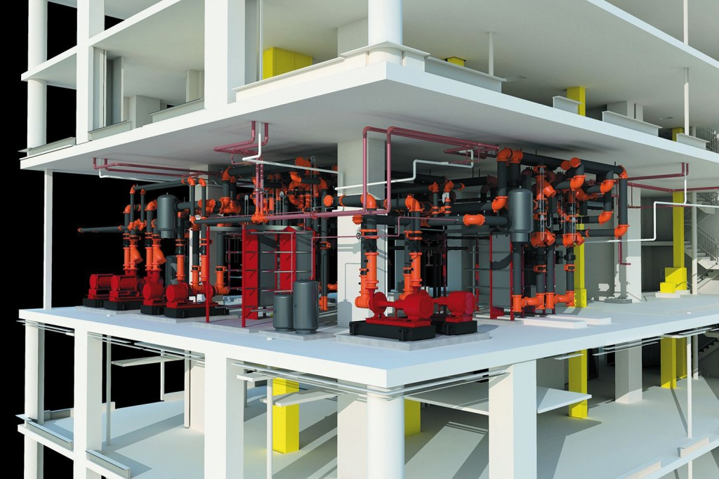 CPS, Construction Piping Services, 3D, Model, IPD, BIM, Drawing, Modeling, Mechanical, Room, 3D, HVAC