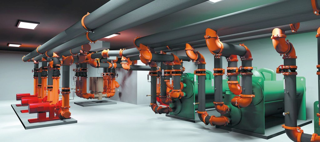 CPS, Construction Piping Services, VDC, Virtual, Design, 3D, Model, Mechanical, Room, BIM, HVAC
