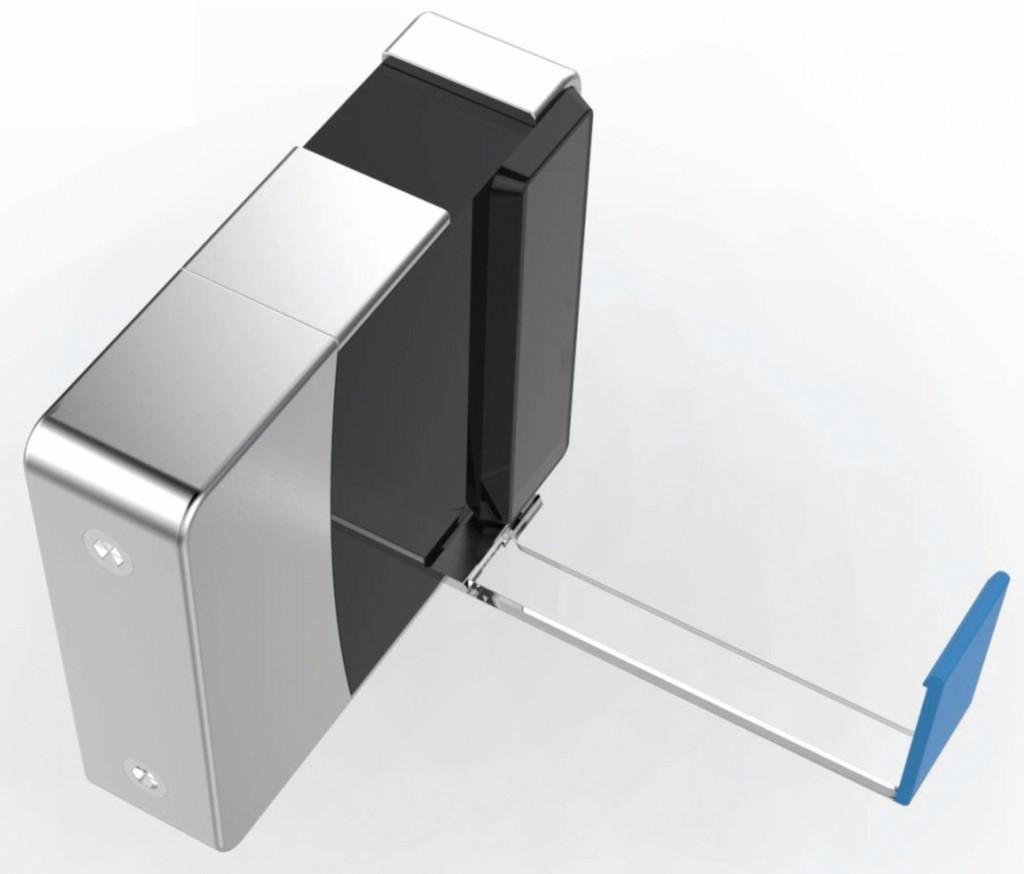 Eine transparente Schablone hilft bei der richtigen Positionierung der Kamera und dient zugleich als stabile Halterung. Bei Bedarf kann die Cam aber auch aus der Verankerung gelöst und seitlich weggeklappt werden. Bild: Fast Foward