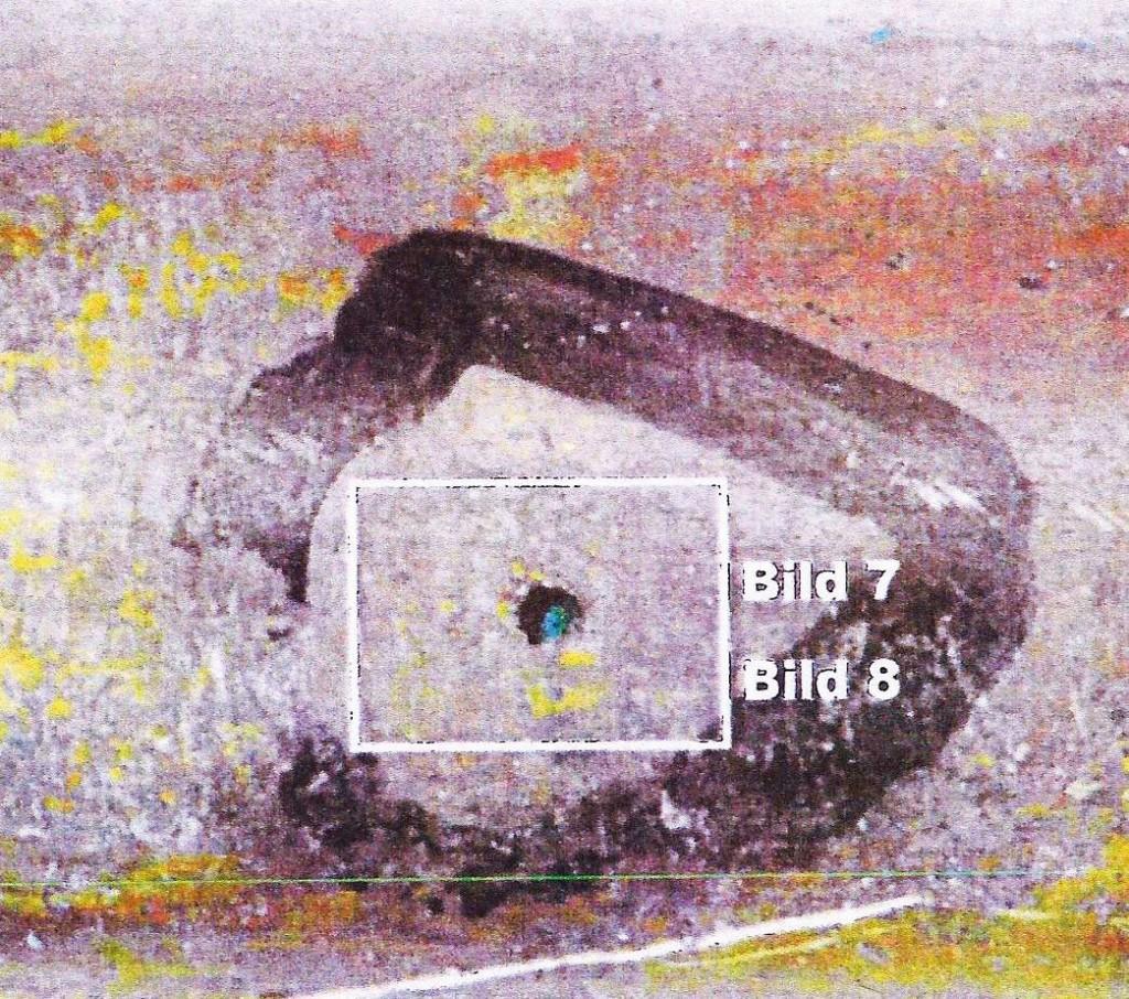 Durchbruch, Kupferrohr außen (Gutachten-Kopie). Bild: Genath