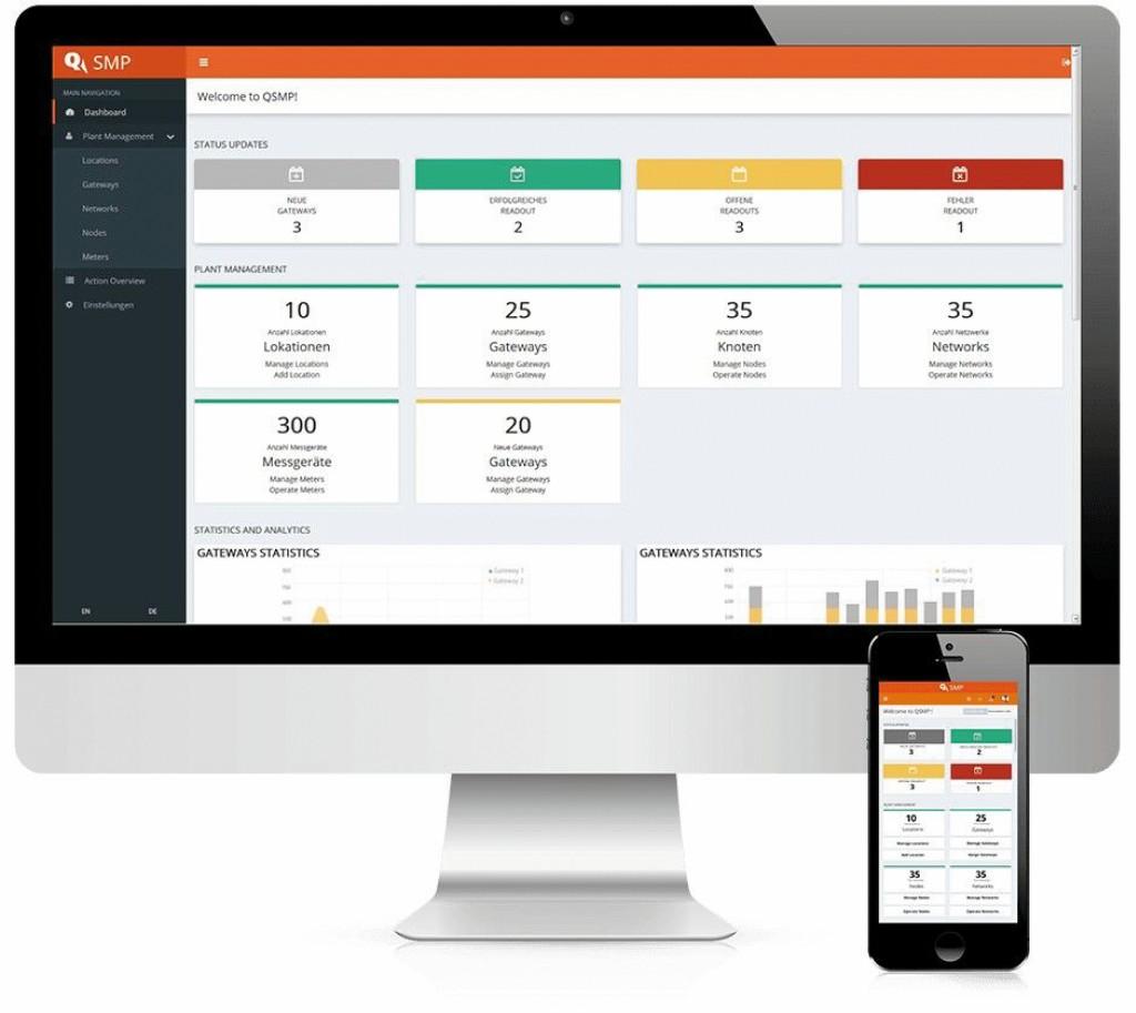Verbrauchsdaten können über das Webportal abgerufen werden. Bild: Qundis