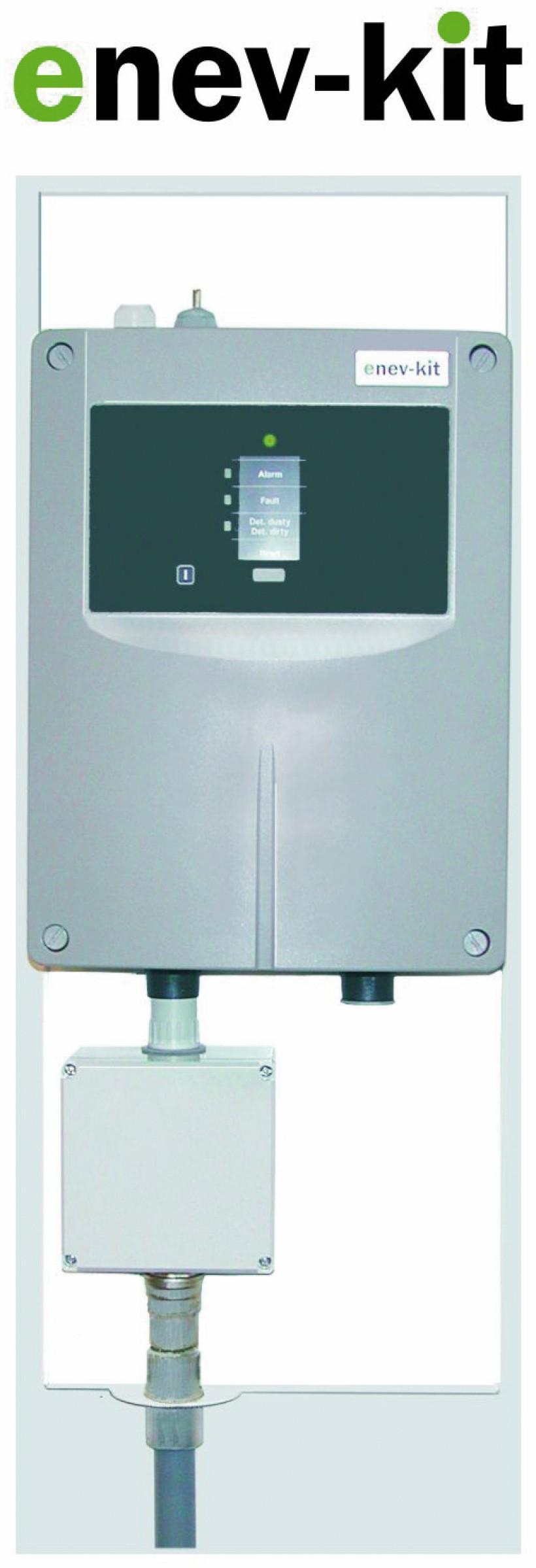 Permanente Luftüberwachung im Fahrschacht über den CO2-Sensor enev-kit. Bild: Aleatec GmbH