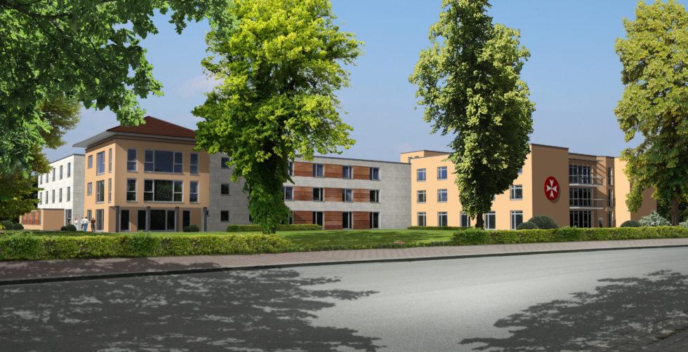 Die Einrichtung für Senioren in Dannenberg  wird um einen Neubau ergänzt. Abb.: Architekten Beinhoff + Rieks GbR, Rüthe