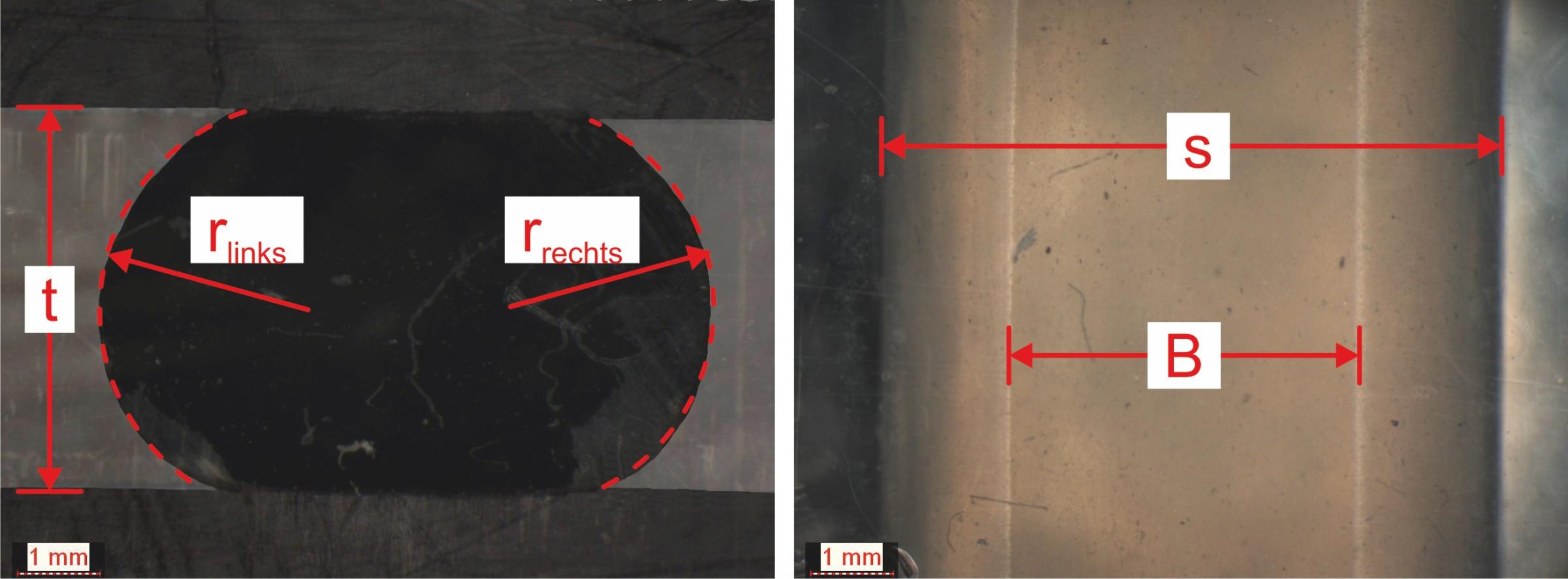 Bild 5 Vermessung eines verpressten O-Rings (MVQ,d =6mm). Bild: Verfasser