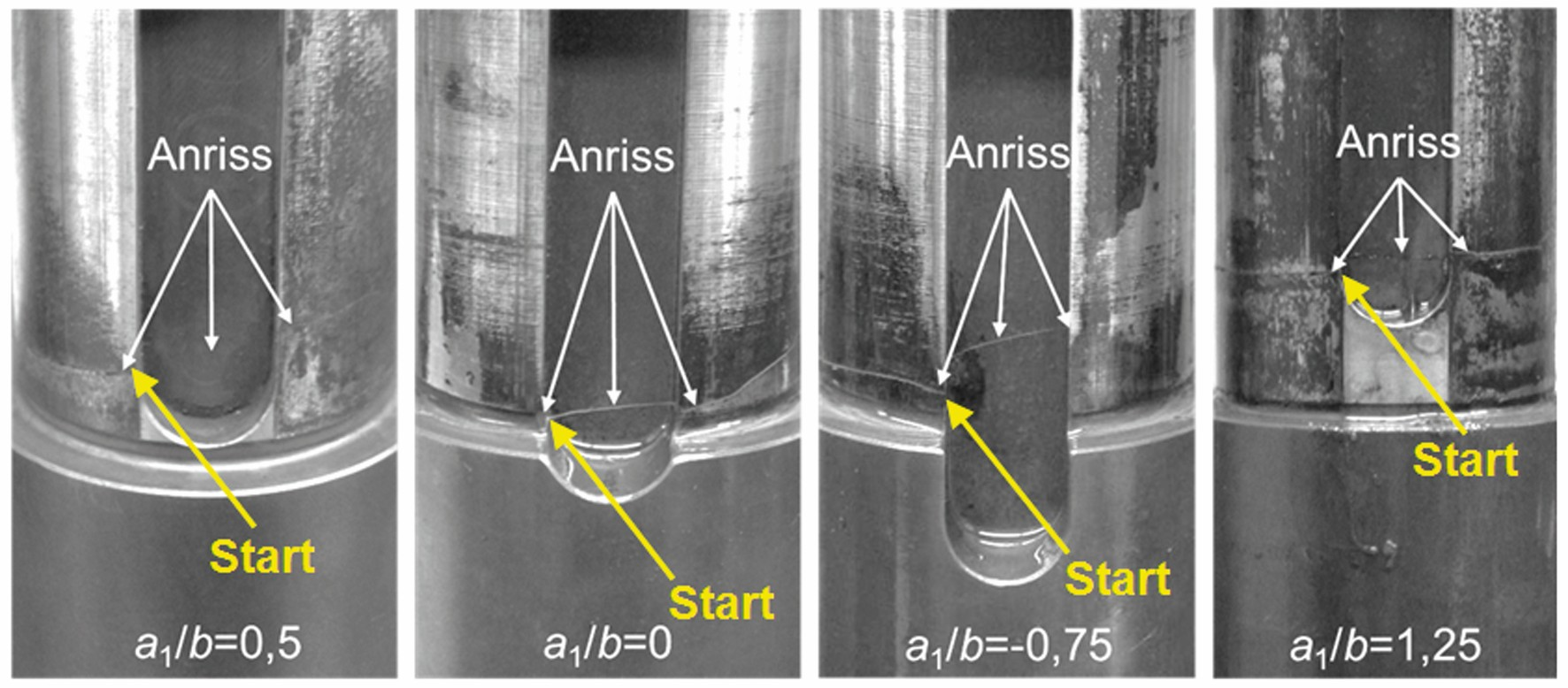 Bild 10 Anrisspositionen der Passfedergeometrien mit abgesetzter Welle und unterschiedlicher Nutlage. Bild: Verfasser