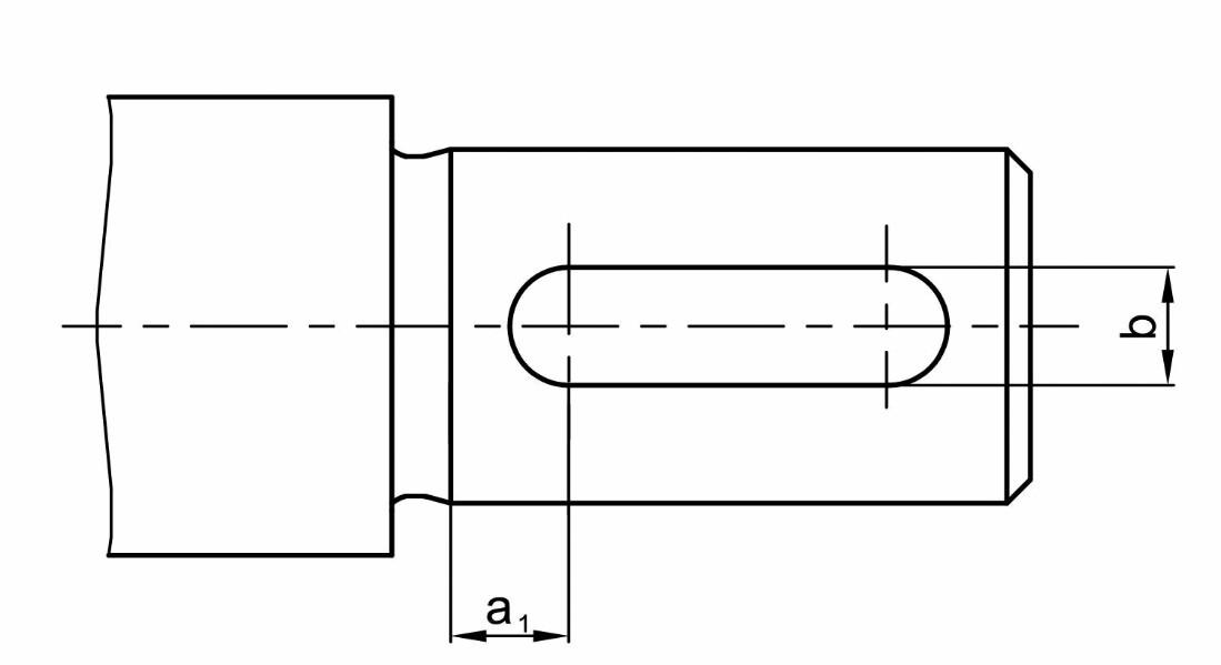 Bild 7 Definition der Lage der Nut zum Wellenabsatz bei einer abgesetzten Welle mit Freistich. Bild: Verfasser