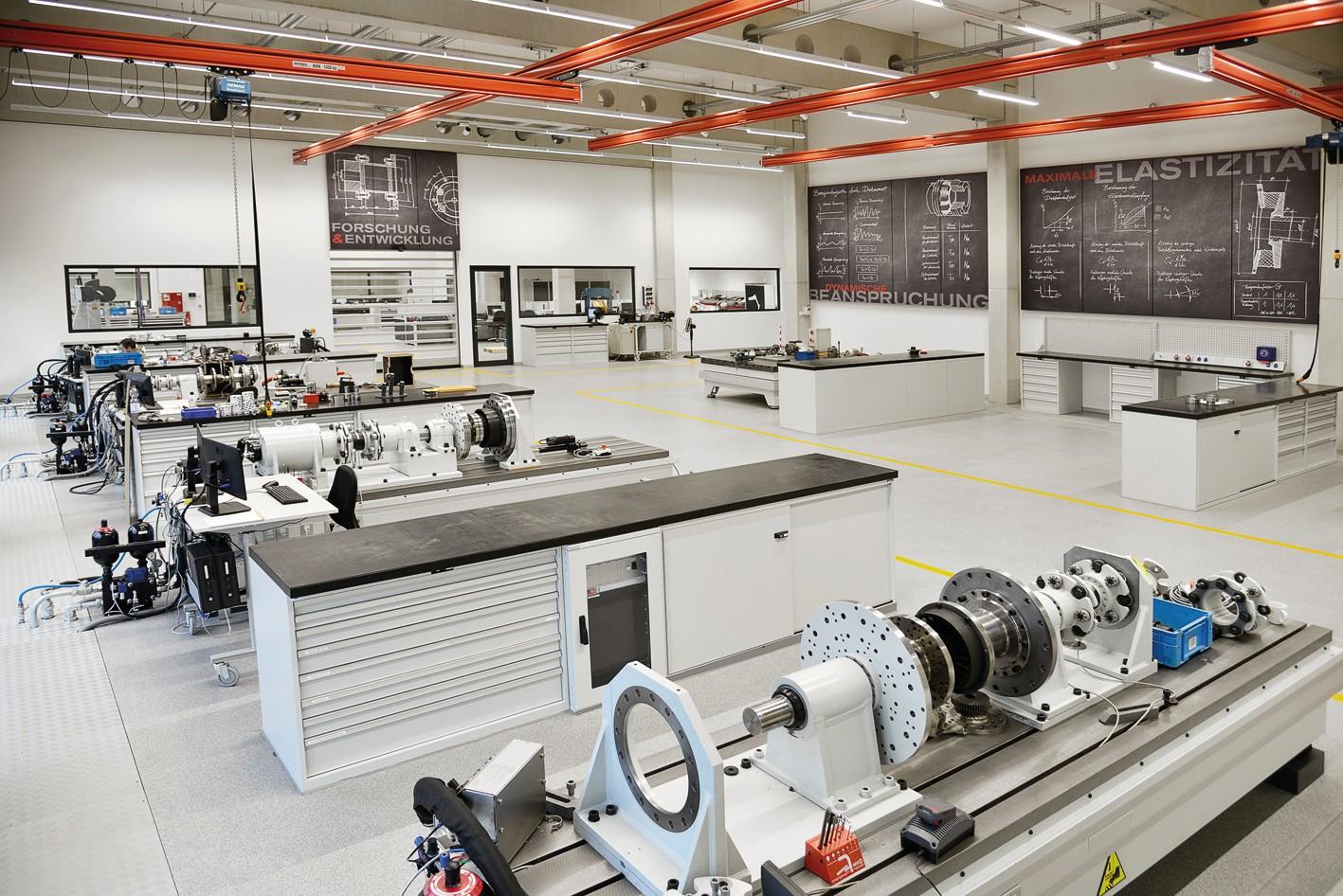 Bild 6 Im F&E-Zentrum bündeln sich die Bereiche Innovationsmanagement, F&E, Qualitätsmanagement, Messtechnik und Elektronikentwicklung. Bild: KTR