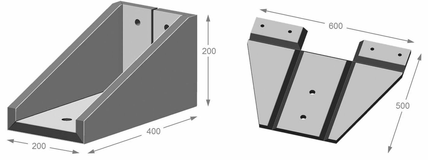 Bild 2: CAD-Modell der Konstruktion und Abwicklung des Trägers. Bild: Universität Stuttgart