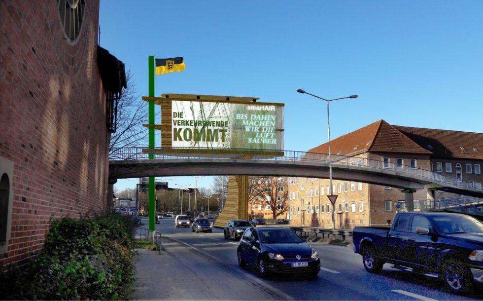 Die Verkehrswende zumindest angekündigt - gesehen am Theodor-Heuss-Ring in Kiel. Bild: Christoph Kronhagel