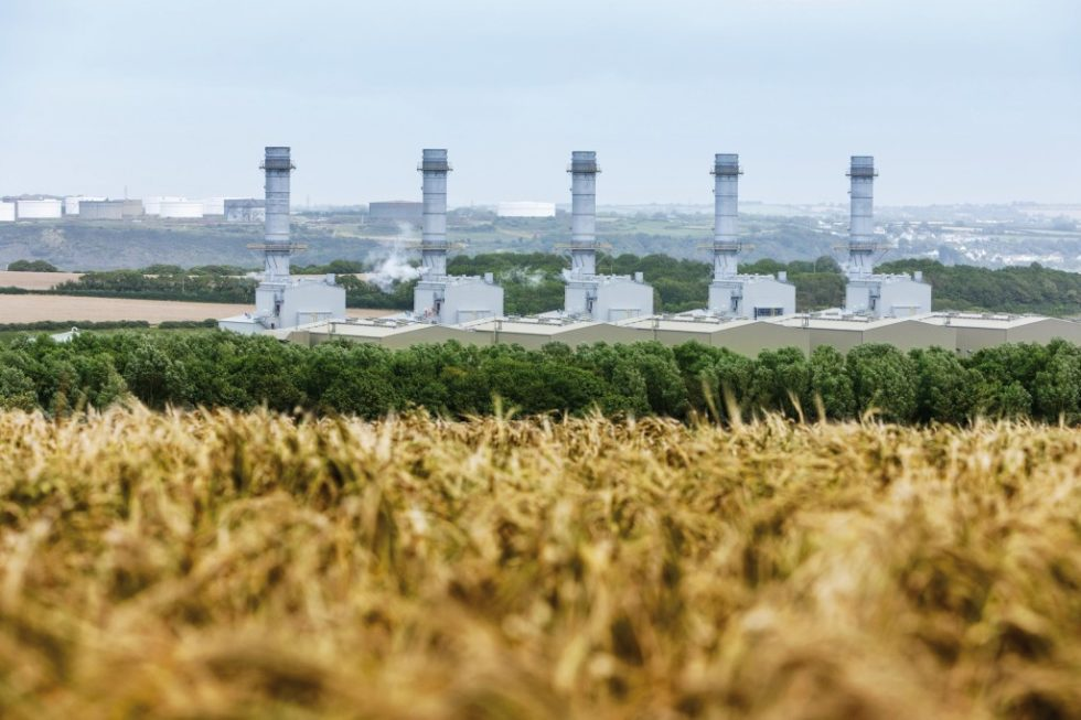 Das GuD-Kraftwerk Pembroke im Südwesten von Wales ist mit einer Leistung von 2188MW eines der größten und effizientesten Kraftwerke seiner Art in Europa. Bild: RWE Generation