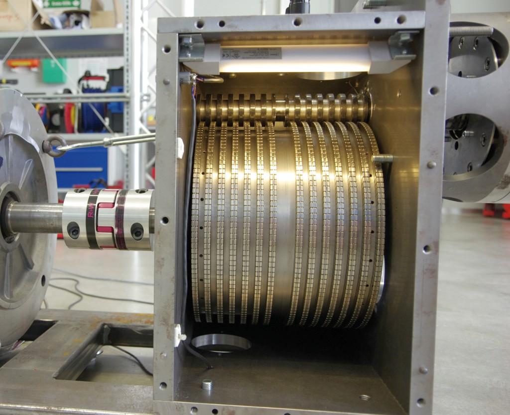Bild 1 Magnetisches Stirnradgetriebe. Bild: OTH Amberg-Weiden