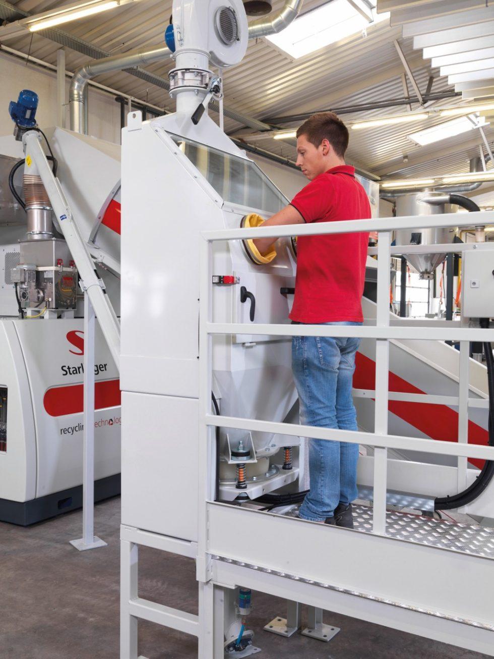recoSTAR universal mit CaCO3-Dosiereinhei. Bild: Starlinger & Co. GmbH