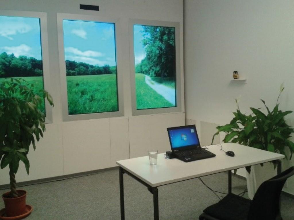 Bild 3 Künstliches Fenster am Fraunhofer-Institut für Bauphysik in Stuttgart [4; 28].