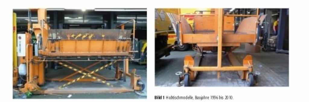 Bild 1 Hubtischmodelle, Baujahre 1996 bis 2010. Quelle:Deutsche Post AG