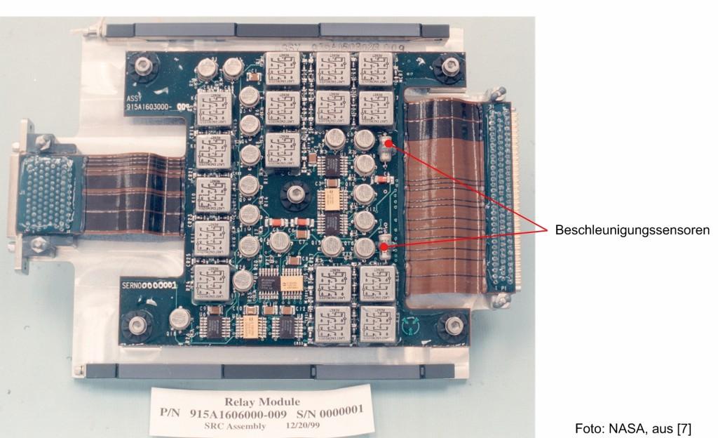 Bild 7 Relaismodul mit Beschleunigungssensoren. Quelle: R. Konersmann