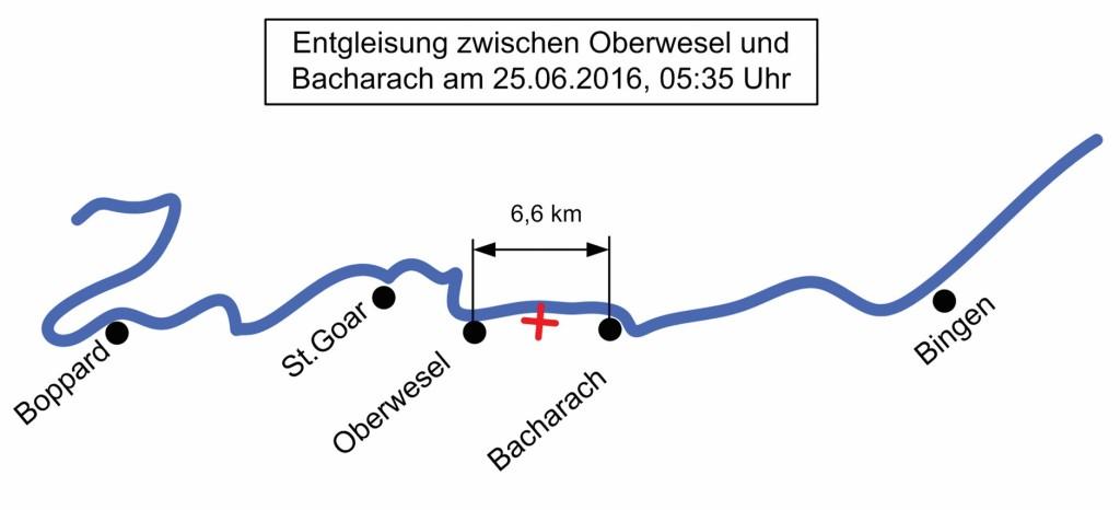 Bild 4 Unfall Regionalexpress 4251 am 25.06.2016 nahe Bacharach. Quelle: R. Konersmann