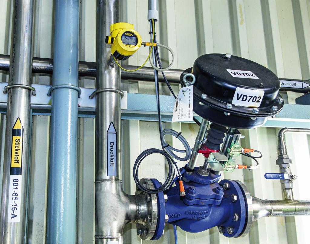 Druckmessung bei der Druckluftversorgung. Bild: Vega