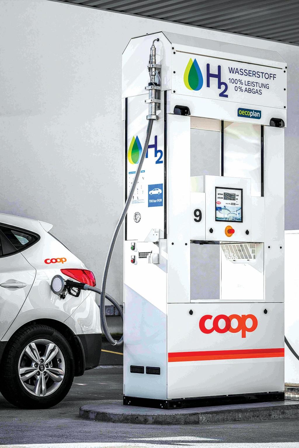 Der Handelskonzern Coop eröffnete im November 2016 die erste Wasserstofftankstelle in der Schweiz. Bild Coop Genossenschaft
