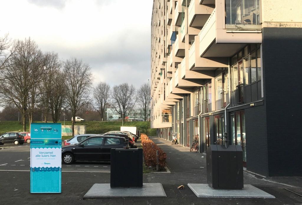 Windelbox in einem Amsterdamer Wohnviertel. Bild: Procter & Gamble